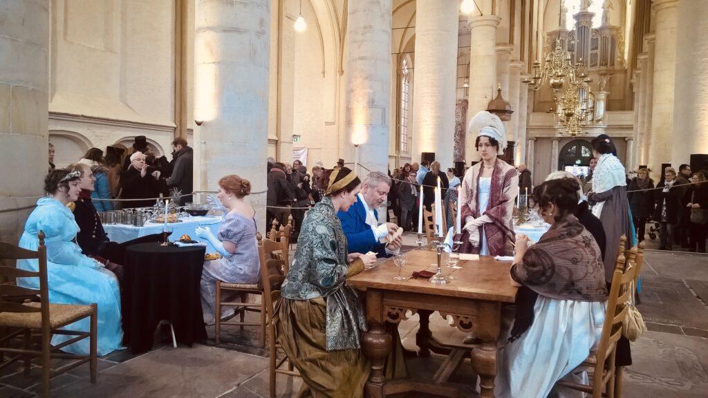 Dickens Festival in Deventer - Dinner in the church