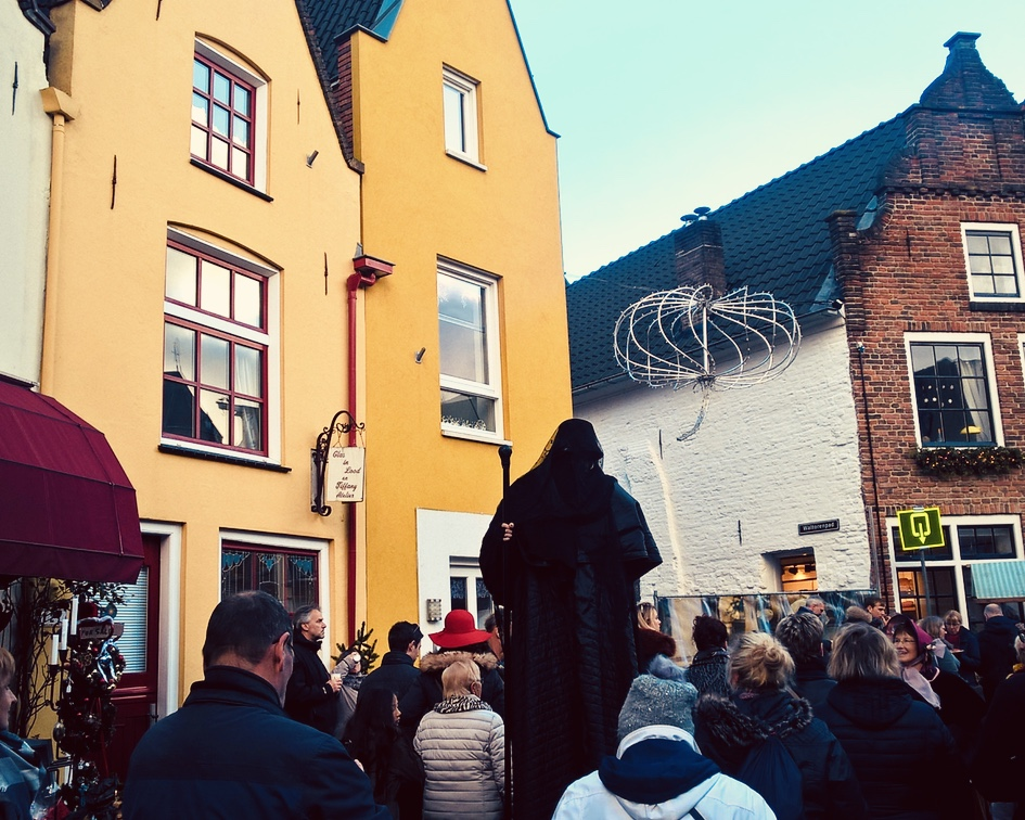 Dickens Festival in Deventer - the ghost from A Christmas Carol
