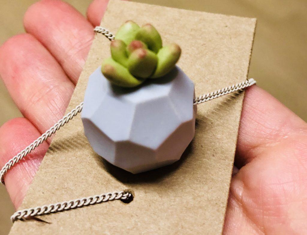 Accessories - Succulent pendant handmade by 3va's Handmade
