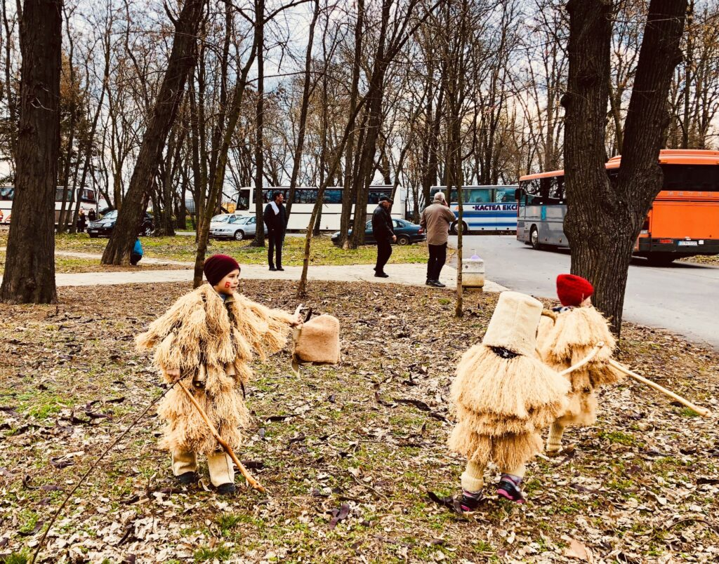 Children playing Kukeri