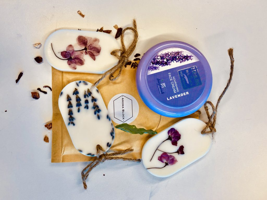 Rose and lavender products