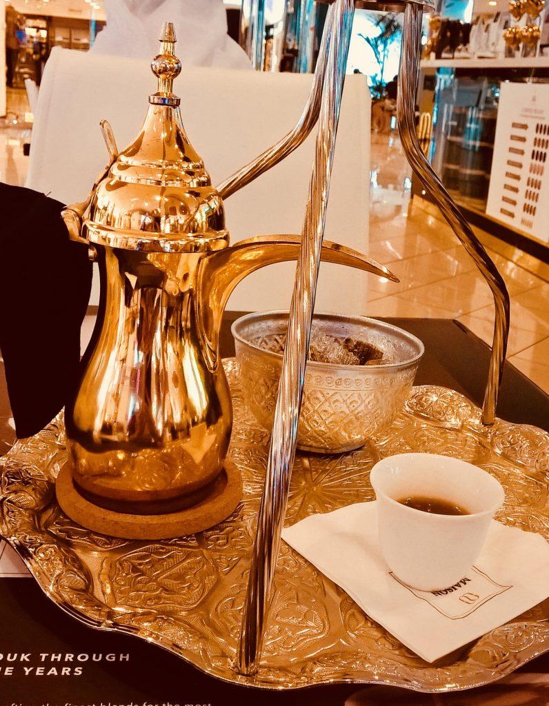 Favourite international drink - Arabic  coffee in Abu Dhabi