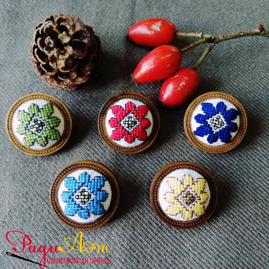 Traditional Bulgarian embroidery made by Radi Arts