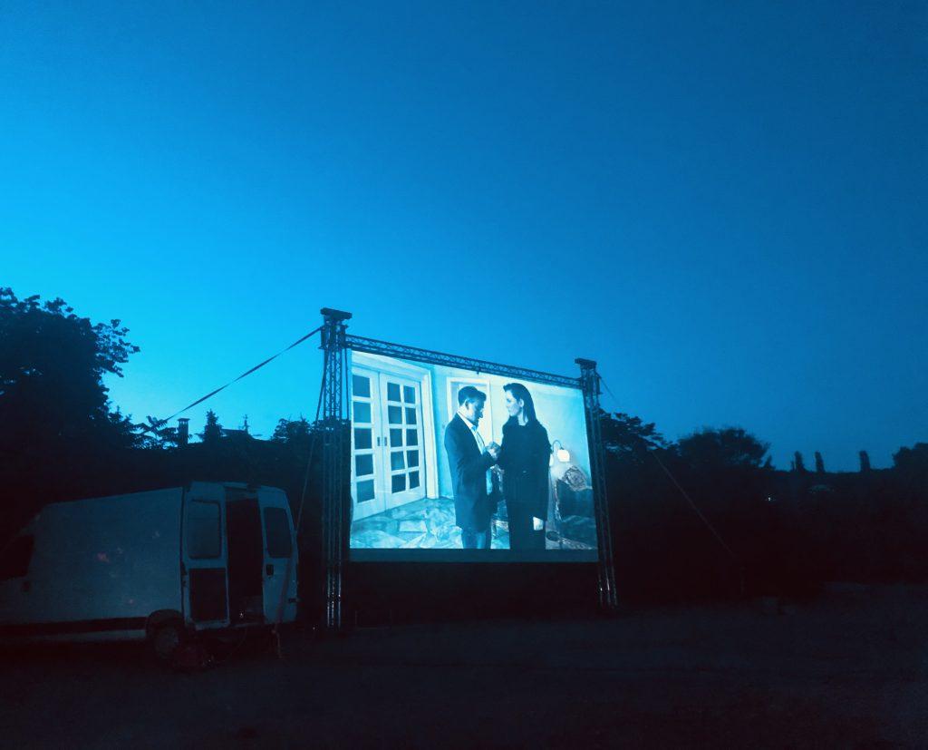 Car cinema night in Varna