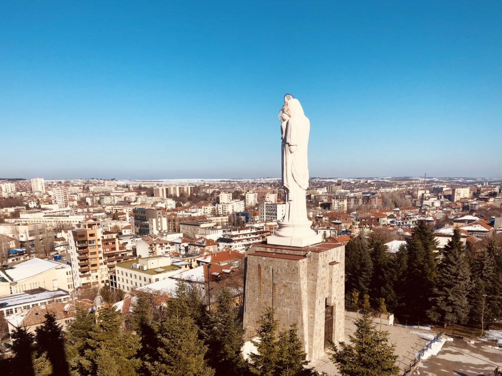 The Monument of the Holy Mother of God in Haskovo