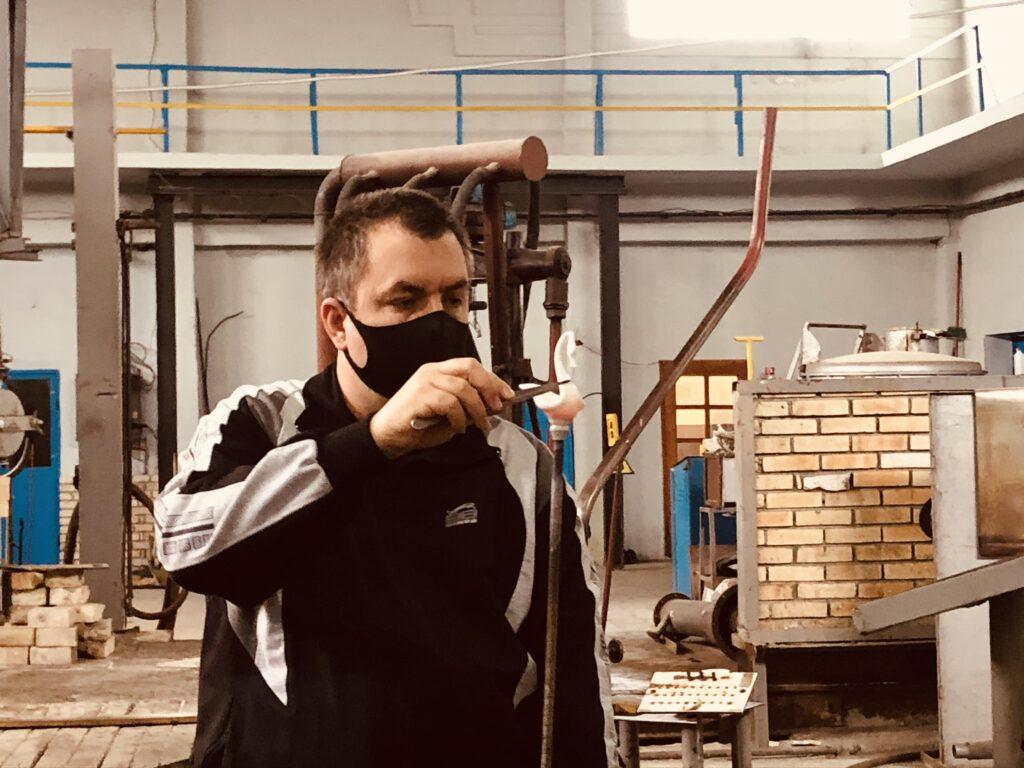 Glass melting workshop